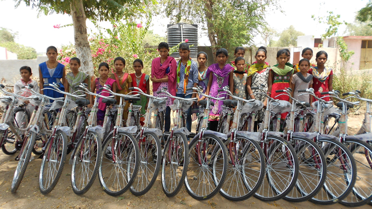 Girls Child Higher Education through Bicycle