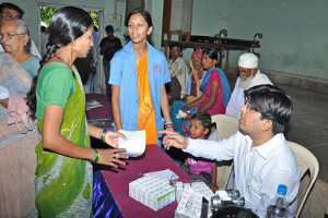 Health care camps in rural tribal areas for tribal aged men, women and children