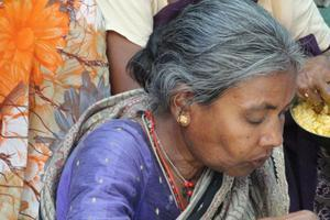 Provide support for an elderly person in distress